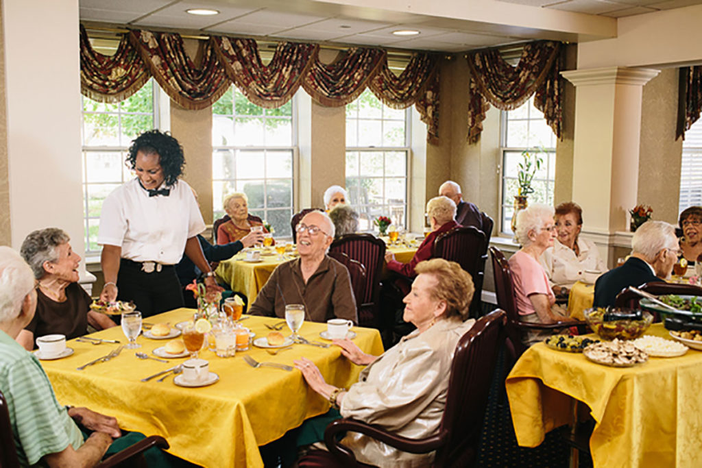 Huntington Residents Served in Dining Room