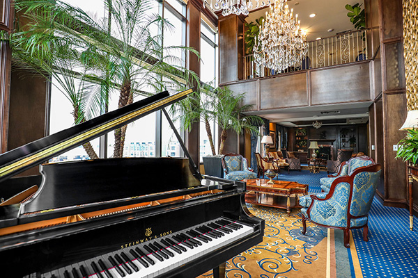 Brandywine living at alexandria music room with grand piano
