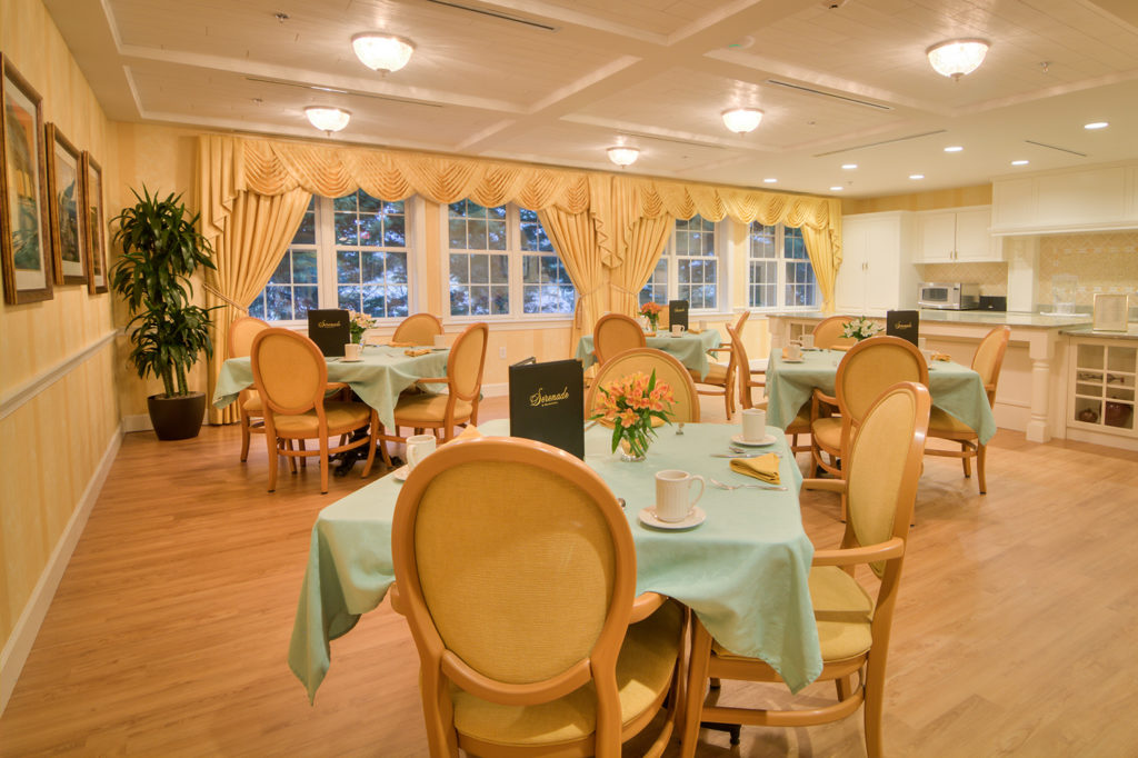 Serenade Dining hall for guests to eat from a delicious selection of food.