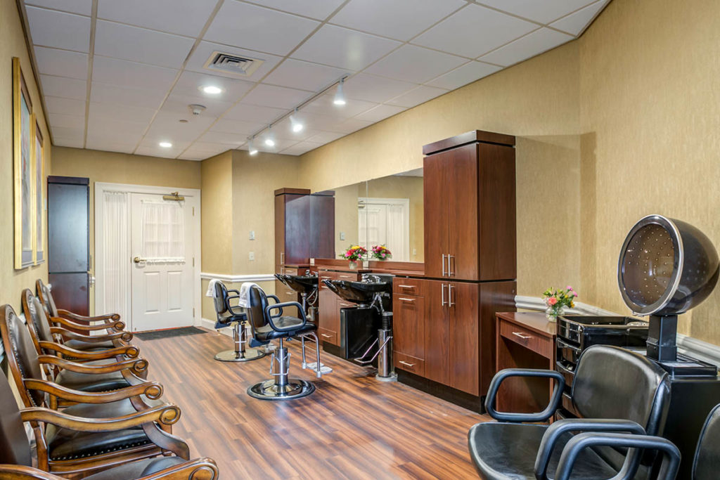 salon with multiple Salon chairs to get your hair done.