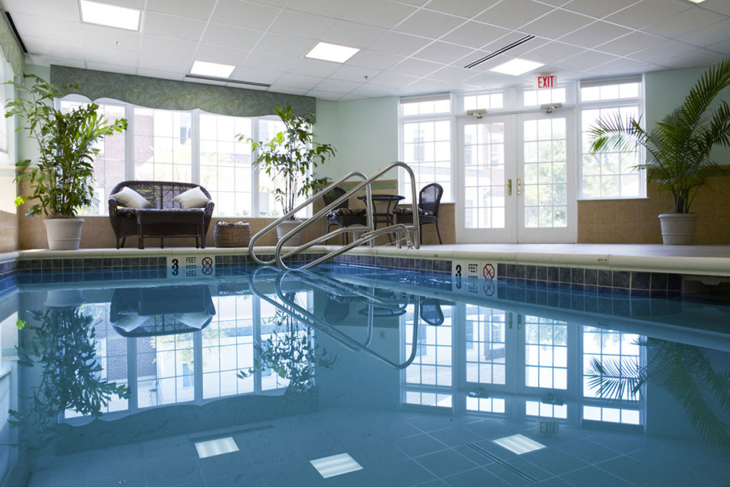 Aquatherapy pool for residents to recover.