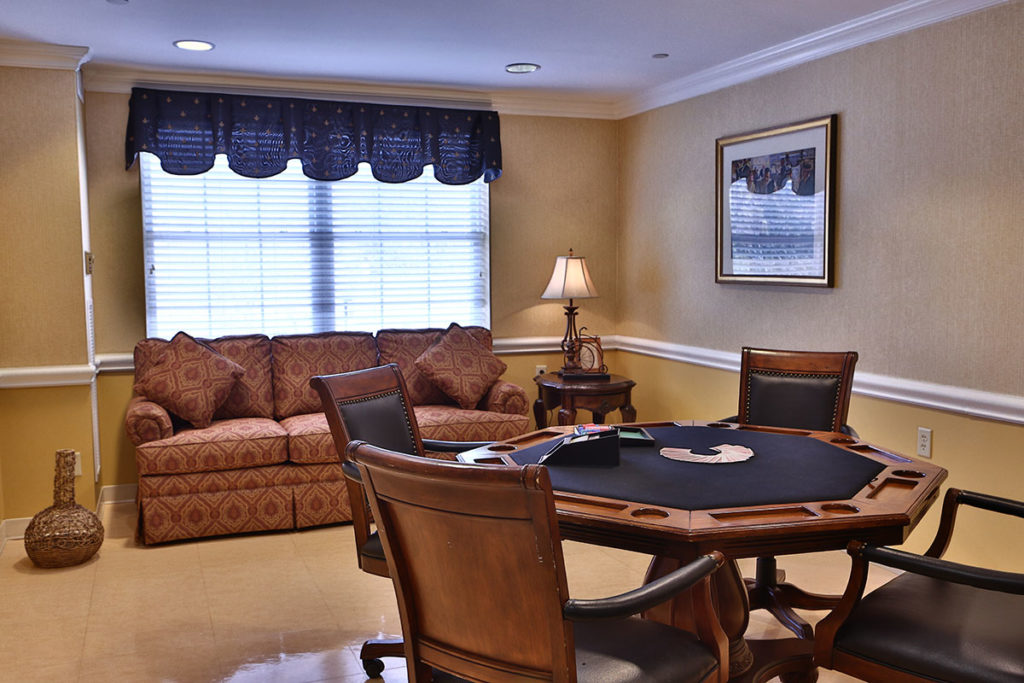 Brandywine Living at Mountain Ridge game room