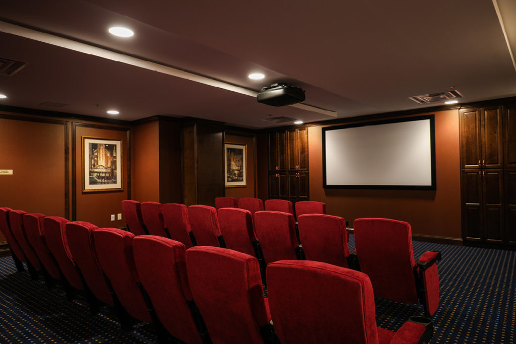 Theater room at Brandywine Living at Alexandria