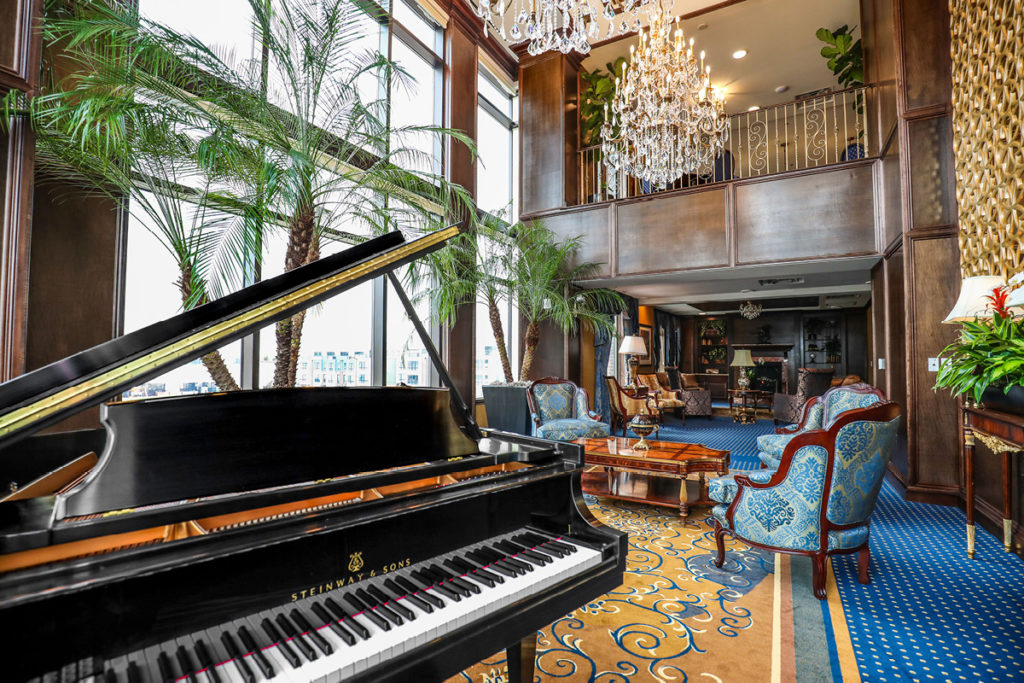 Piano room in Brandywine at Alexandria