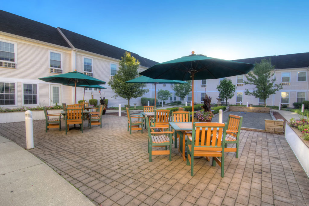 Brandywine Living at Toms River Courtyard with Picnic tables
