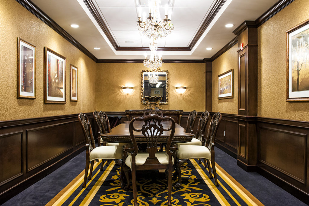 private dining area for guests