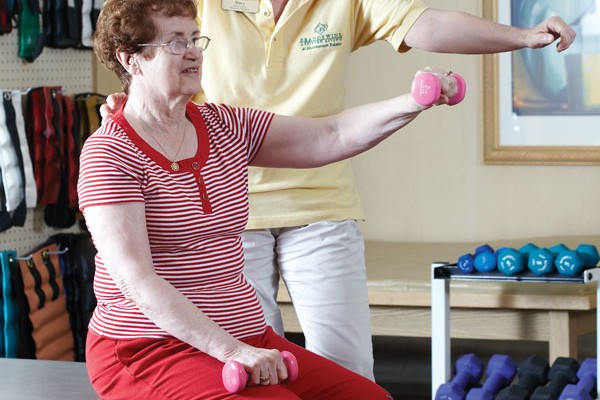 Brandywine living resident participating in wellness activities