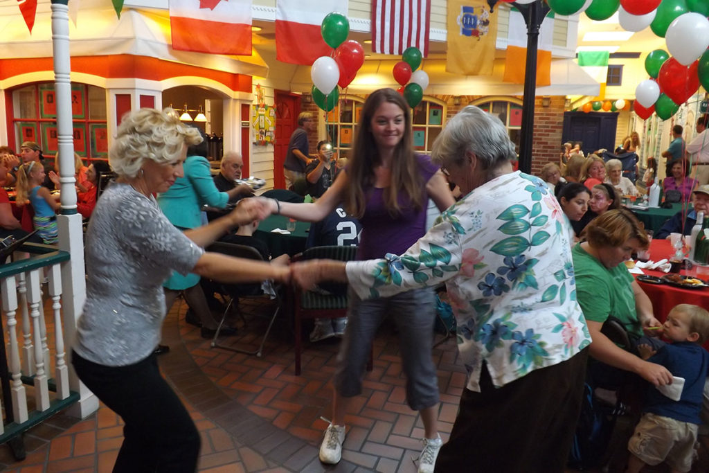 Brandywine Living at Reflections at Brick residents andguests dancing