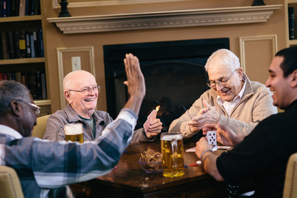 Brandywine Living at The Sycamore residents playing cards
