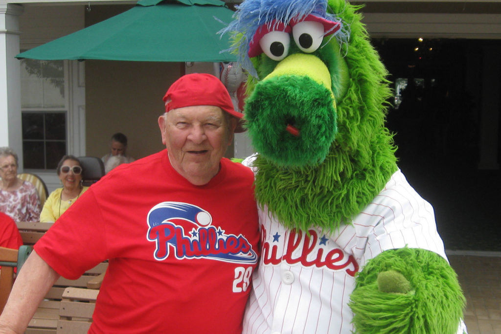 philly phanatic visit as one of the community activities