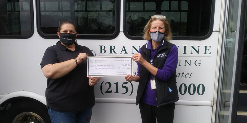 Rachel Kaufman Presents Donation to Cradles to Crayons