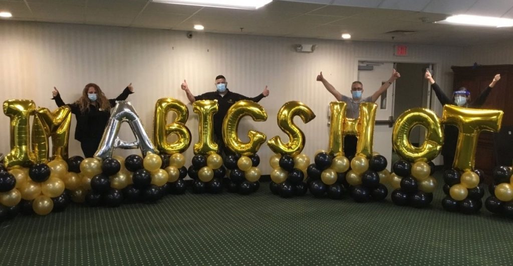 "Brandywine Team Members with ""I'm a Big Shot"" Balloons"